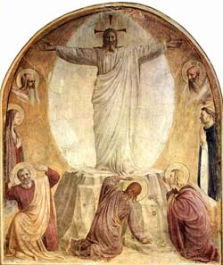 Fresco: The Transfiguration by Fra Angelico, 1440-1442; Convento di San Marco, Florence